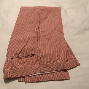 J Crew seersucker pants, red, size 32 x 30
